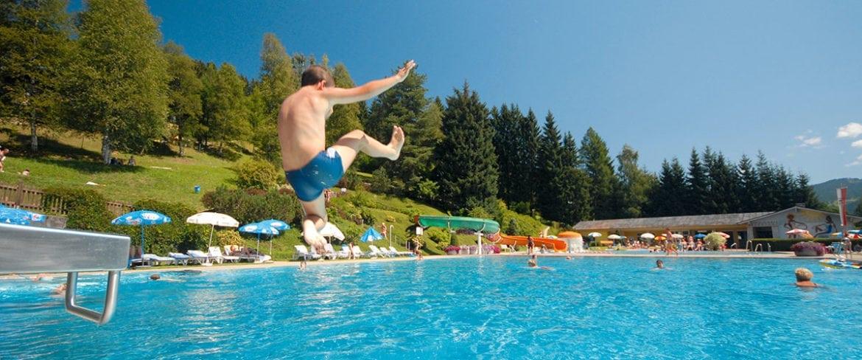 Schwimmen, Sommer, Freibad